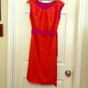 Reservable orange & pink sleeveless dress!
